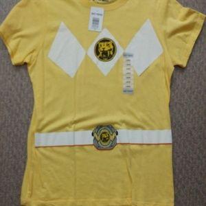Tops - NWT!🙌 yellow Power Ranger shirt